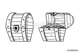 treasure chest doodle a set of hand drawn vector doodle treasure