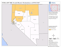 State Of Nevada Map by Nevada Severe Winter Storms Flooding And Mudslides Dr 4307
