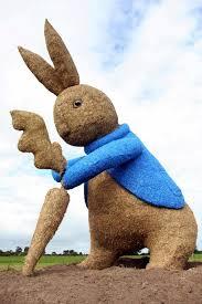 giant 40ft straw peter rabbit sculpture fire mystery