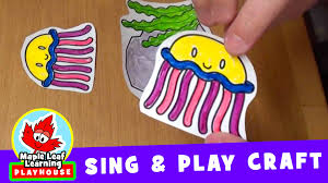 three jellyfish sing and play craft for kids maple leaf