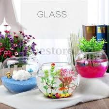 round clear glass vase fish tank ball bowl flower planter