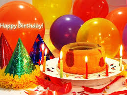 birthday cakes with candles and balloons wallpaper