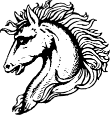 mustang horse drawing file horse head svg wikimedia commons