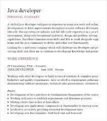java developer cv template pdf free samples examples u0026 format