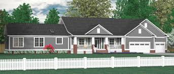 Large 1 Story House Plans House Plan 3349 B The Wade Elevation