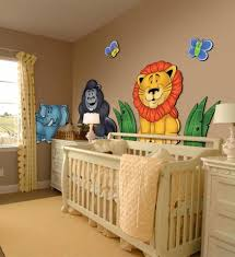 Nursery Jungle Decor Large 3d Wall Stickers For Nursery Or Room Jungle Animals