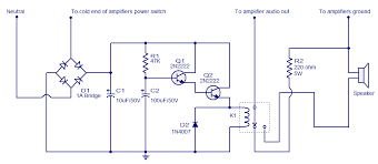 speaker protector electronic circuits and diagram electronics
