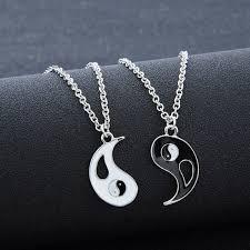 aliexpress yang couple jewelry personalized yin yang broken necklaces best friend