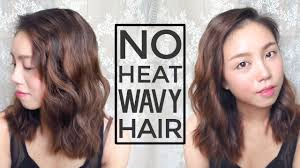 3 steps no heat korean style wavy hair youtube