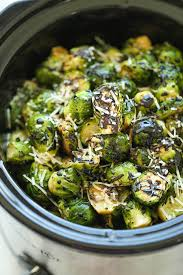 cooker balsamic brussels sprouts damn delicious