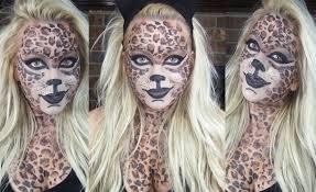 Cheetah Face Makeup For Halloween Leopard Halloween Makeup Youtube