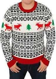holiday reindeer men u0027s sweater in antique ugly christmas sweater