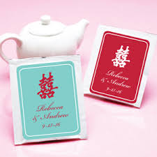 tea bag favors happiness personalized tea bag favor asian theme wedding