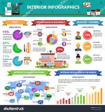 interior design infographics set house architecture stock vector