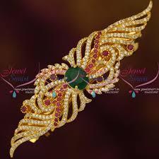 h9162 ruby emerald floral design cz hair clip matching fashion