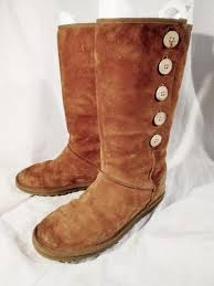 womens ugg lo pro boot chestnut womens ugg australia 3387 lo pro button suede boot chestnut brown