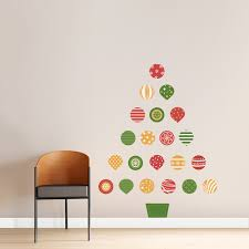 Christmas Wall Pictures by Christmas Ornament Tree Simply Simple Christmas Wall Decals Home