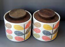 vintage retro kitchen canisters ceramic pottery vintage retro kitchen canisters jars ebay