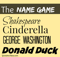 play the name game fun for christmas or new year u0027s eve parties