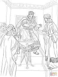 king jehoiakim burns jeremiah u0027s scroll coloring page free