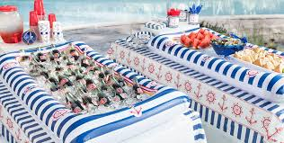 themed party supplies striped nautical theme party party city