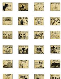 miniature dollhouse halloween potion labels tag collection and