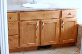 How To Redo Bathroom Cabinets Master Bathroom Redo Before And After Pics