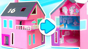 59 Best Barbie Homes Ideas by How To Make A Dollhouse That Opens U0026 Closes Diy Cardboard Houses