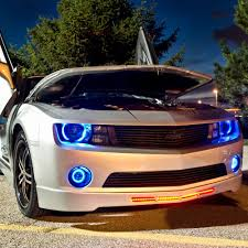 camaro led headlights oracle lighting 7003 331 chrome factory style headlights with