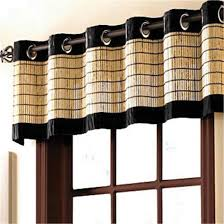amazon com brylanehome bamboo grommet valance 60