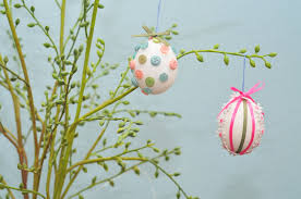 hodgepodge button ribbon hanging easter eggs sippy cup