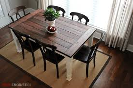 How To Build Dining Room Table Diy Farmhouse Table Free Plans Rogue Engineer