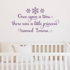 lovely quote wall decals for baby nursery full size baby nursery unique removable purple vinyl once upon time there was