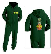 pineapple with sunglasses onesie clothing