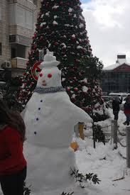 snow brings ramallah to a standstill u2013 let the silence ring