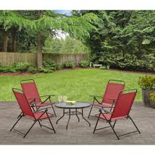 Mainstays Crossman 7 Piece Patio Dining Set Green Seats 6 - mainstays albany lane 5 piece folding seating set multiple colors