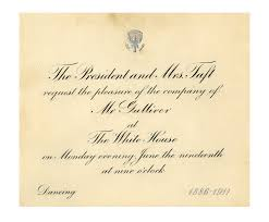 lot detail president taft invitation to 1911 taft wedding