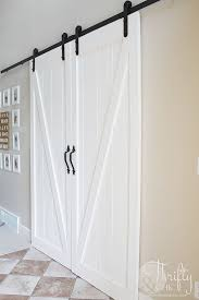 cool diy barn door tutorial for sliding double barn doors make