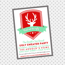 marvelous ugly christmas sweater party invitations online features