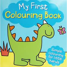 colouring book dinosaur paperback