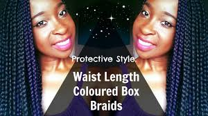 grey and purple combined together style box breads hair waist length black and purple box braids two toned youtube