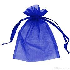organza drawstring bags royal blue organza jewelry gift pouch bags 9x12cm 3 5 x 4 7 inch