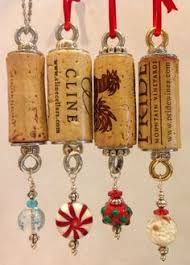 wine cork tree ornament large by lmadeit on etsy