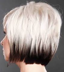 blonde bobbed hair with dark underneath good hair colors for short hair short hairstyles 2017 2018