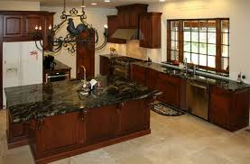 Kitchen Color Ideas With Cherry Cabinets Beige Tile Pattern Ceramis Laminate Flooring Kitchen With Cherry