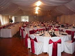 modern black and red wedding decorations with black red white