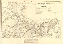 India Political Map by 1959 Political Map Of India By Goi U2013white Paper Mcadd Pahar