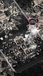 theme black rose black rose skull keyboard apkfreedl