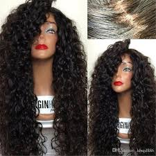 are there any full wigs made from human kinky hair that is styled in a two strand twist for black woman brazilian human hair wigs kinky curly 8 30 inch natural black