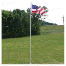American Flag On Ground 20ft Residential Flag Pole W Us Made Nylon Flag